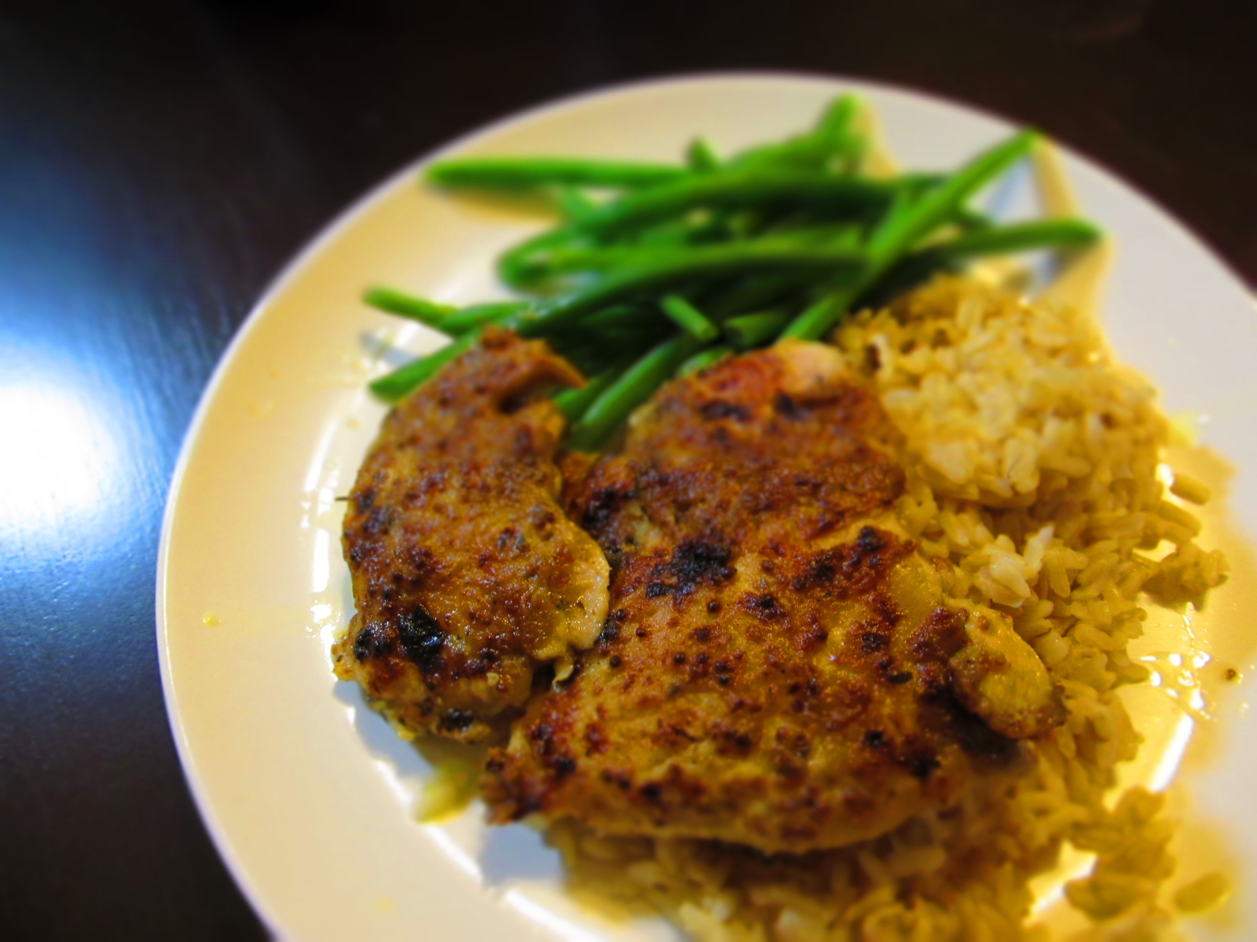 Baked Chicken With Honey-Whole Grain Mustard Glaze Recipes ...